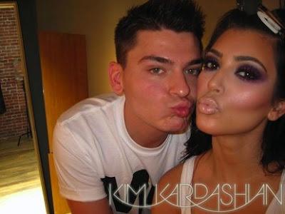 kim kardashian makeup lesson. kim kardashian makeup storage.