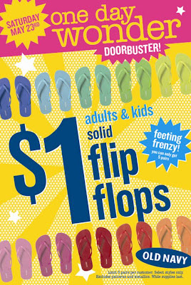 old+navy+1+dollar+flip+flops One Day Only: $1 Flip Flops at Old Navy