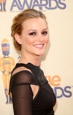 leighton+meester+mtv+movie+awards+beauty MTV Movie Awards 2009 Makeup: Leighton Meester