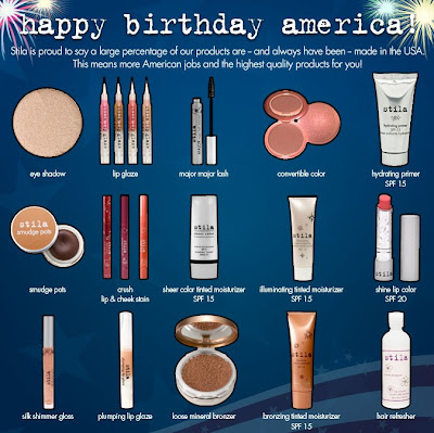 stila+happy+birthday+america Oer The Land of the Free Shipping