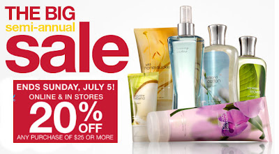 bath+and+body+works+sale 20% off Purchases of $25 or More at Bath & Body Works