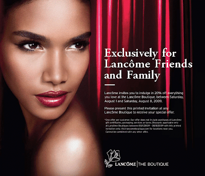 lancome+friends+and+family Lancôme Friends & Family