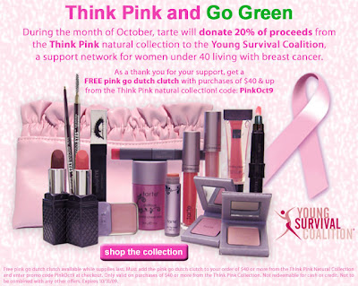 tarte+think+pink Tarte: Think Pink and Go Green