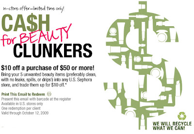 sephora+cash+for+beauty+clunkers+copy Sephora Cash For Beauty Clunkers: $10 Off Purchase of $50 or More