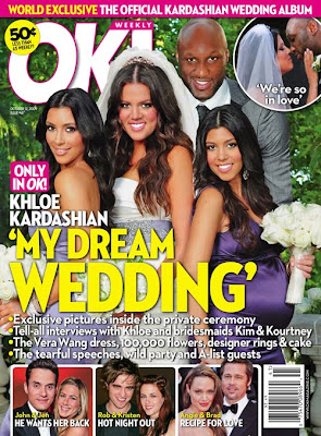 khloe+kardashian+ok+magazine+wedding+cover How To Get Khloe Kardashians Bridal Glow