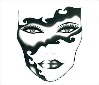 3 BW TribalWoman MAC Halloween Face Charts 2009: Drop Undead Gorgeous