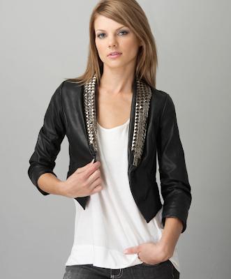 Studded+Faux+Leather+Jacket Headliner Vegan Leather Crop Jacket