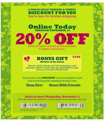 bloomingdales+friends+and+family+2009 Bloomingdales Friends & Family: Take 20% Off Through Nov 15