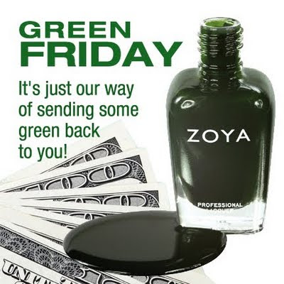 zoya+green Zoya GREEN Friday: Get 6 FREE Nail Polishes!