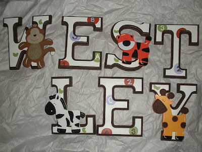 Wall Letters For My Sons Nursery