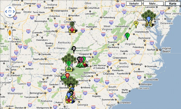 The Walking Dead Google Map ~ Interweb3000 on