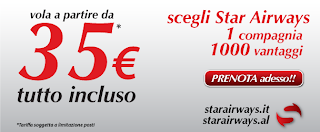 Voli Albania con Star Airways voli low cost