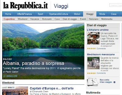 L'Albania in copertina di Repubblica Viaggi