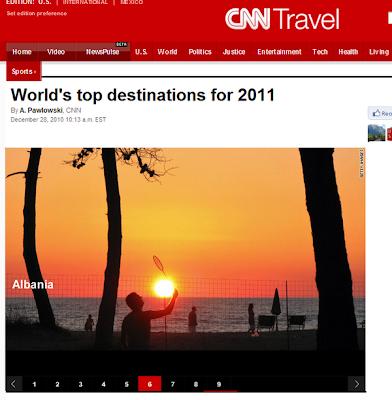 CNN : Albania nella lista delle migliori destinazioni del 2011