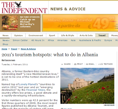 The Independent: Albania nella top-list per il turismo del 2011.