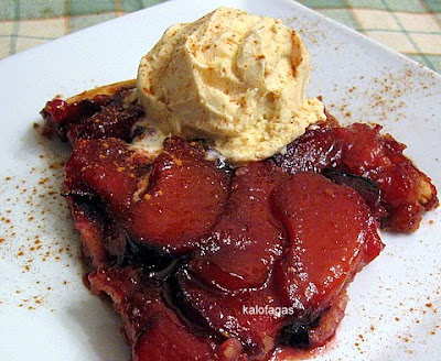 Plum Tarte Tatin With Cinnamon Ice Cream - KALOFAGAS | GREEK FOOD ...