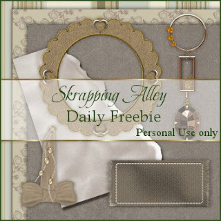 http://skrappingalley.blogspot.com/2009/05/daily-freebie-mini-kit-brown-silk.html