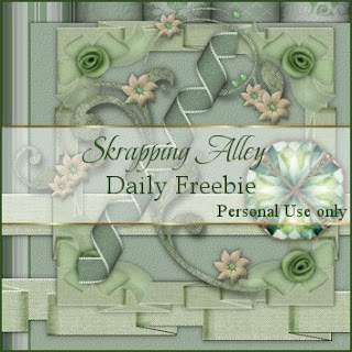 http://skrappingalley.blogspot.com/2009/08/daily-freebie-mini-kit-green-linen.html