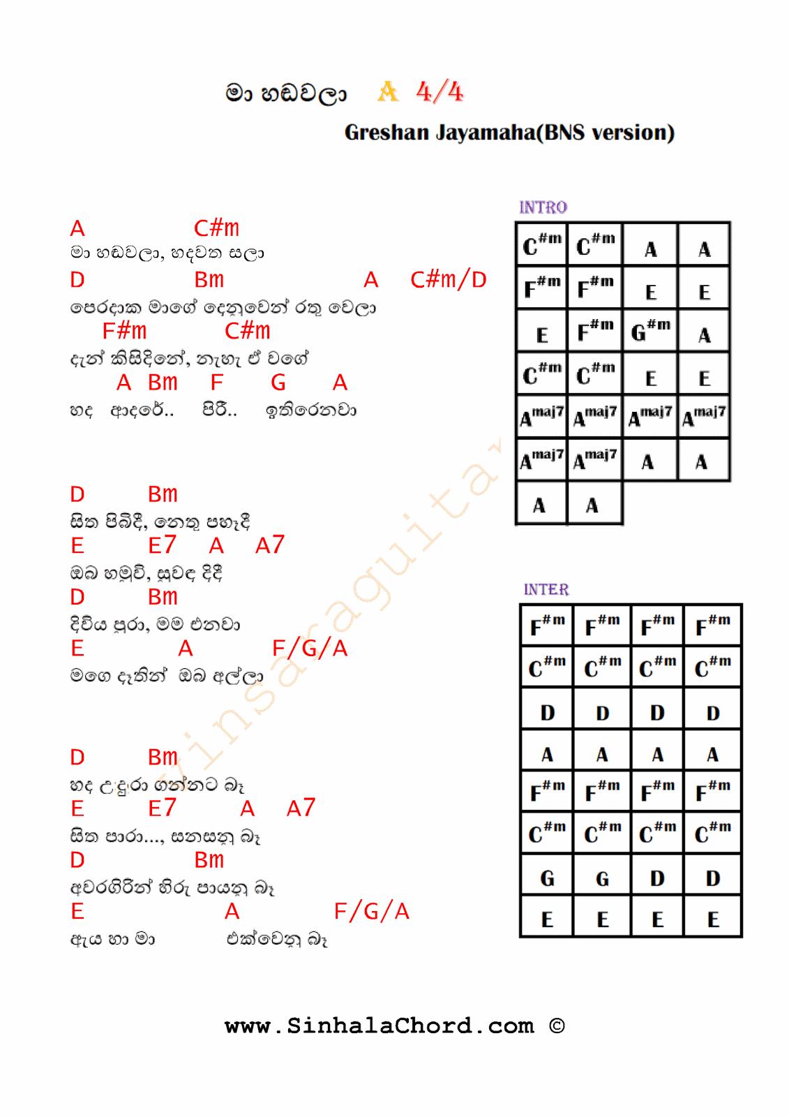 Sinhala Songs Guitar