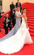 . Eva Longoria y Aishwarya Rai con sus imponentes vestidos de cola. cannes vestidos de cola