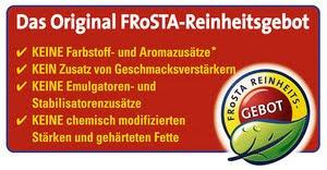 FRoSTA glutenfreie Produkte (Allergen-Übersicht)