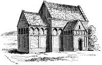 Saxon church at Bradford-on-Avon, Wilts.