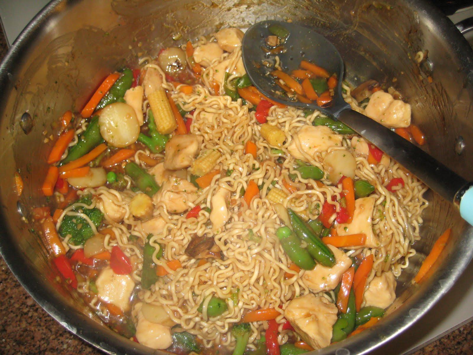 corn with recipe ramen Recipes: Ramen and Teriyaki Exercise: Stir Rondi's Chicken fry