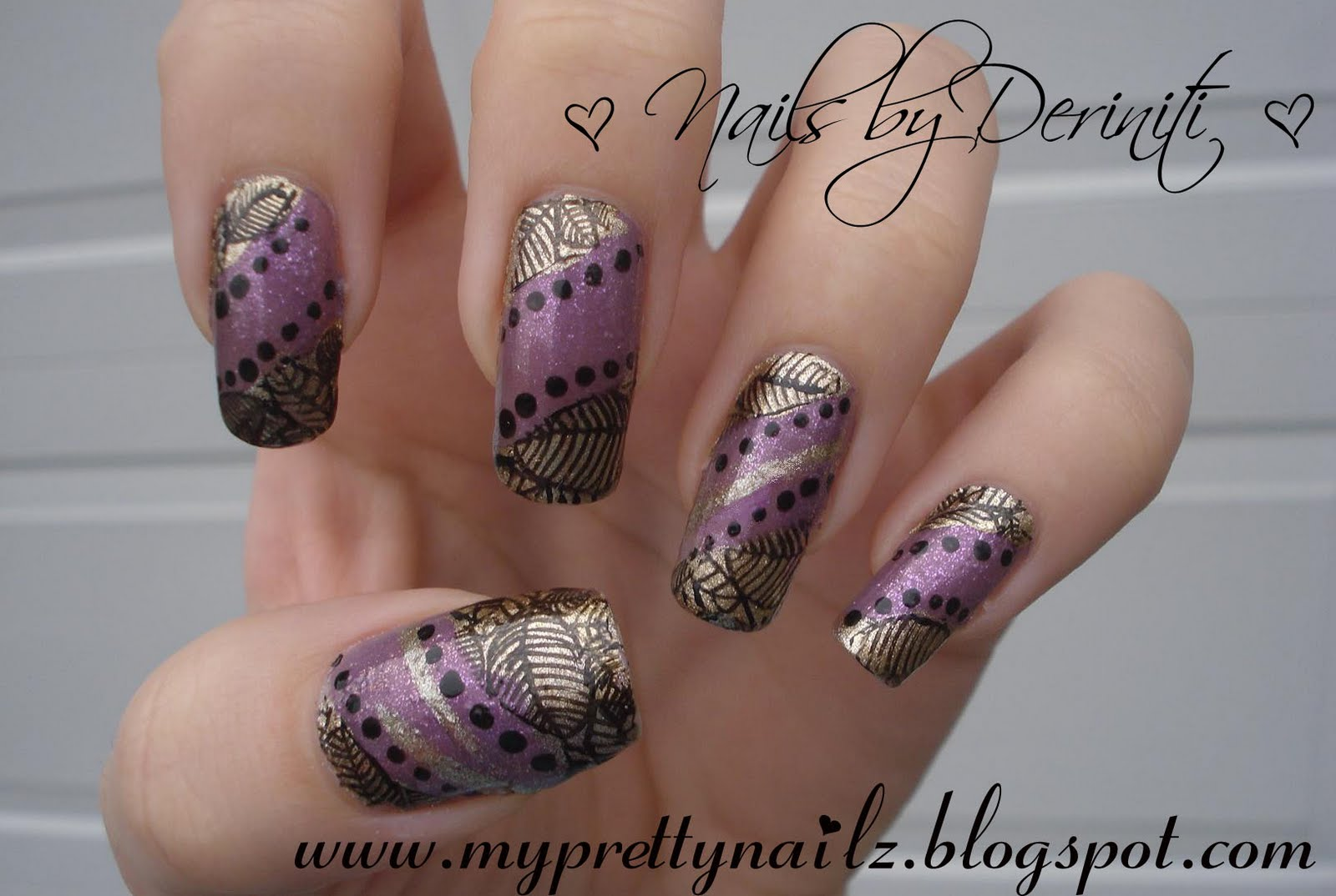My Pretty Nailz: Autumn Nail Art Design - \