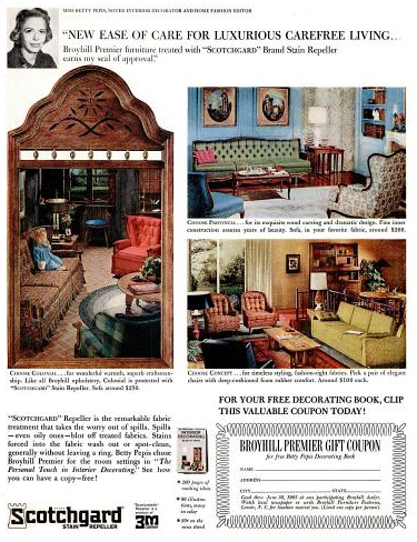 Some More Vintage Magazine Flipping And Another Broyhill Premier Ad, Again  Featuring Miss Betty Pepes, Noted Interior Decorator And House Fashion  Editor.