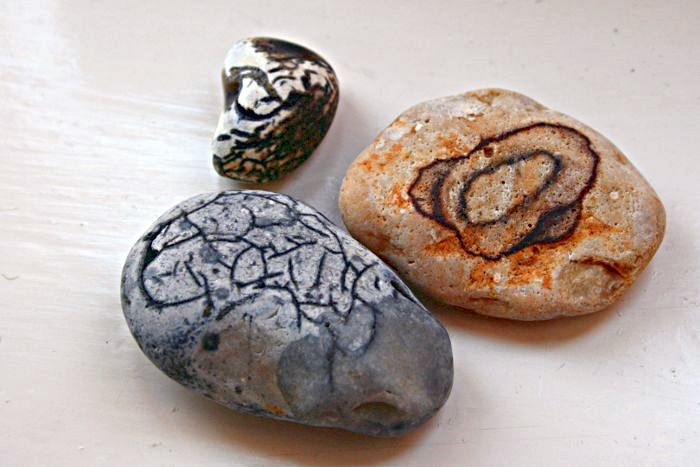 pebbles with odd markings
