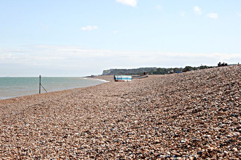 shingle or pebbled beach