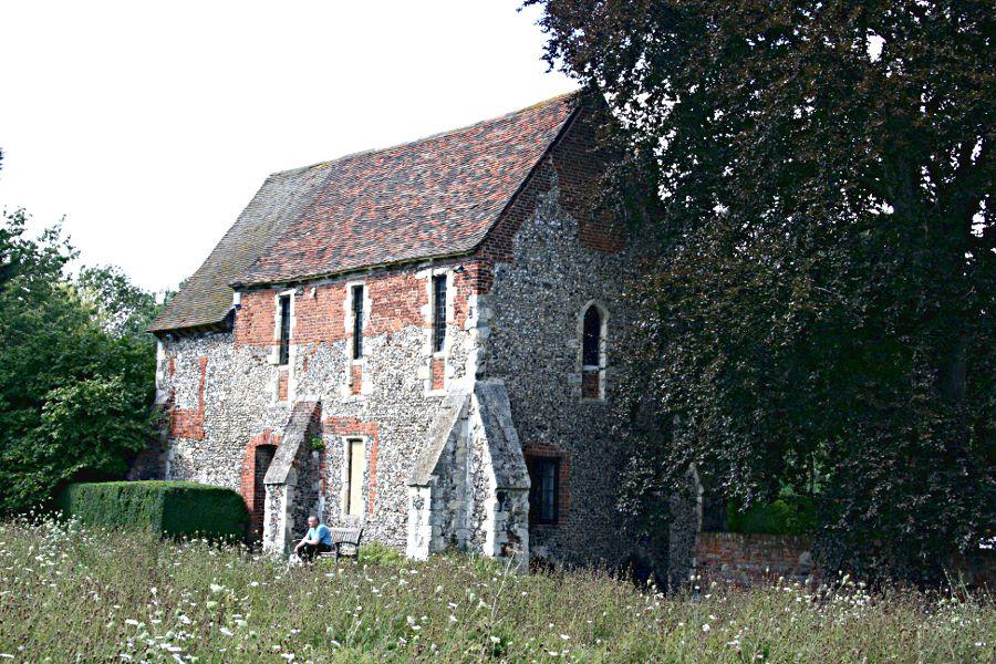 Franciscan chapel with wild flower garden