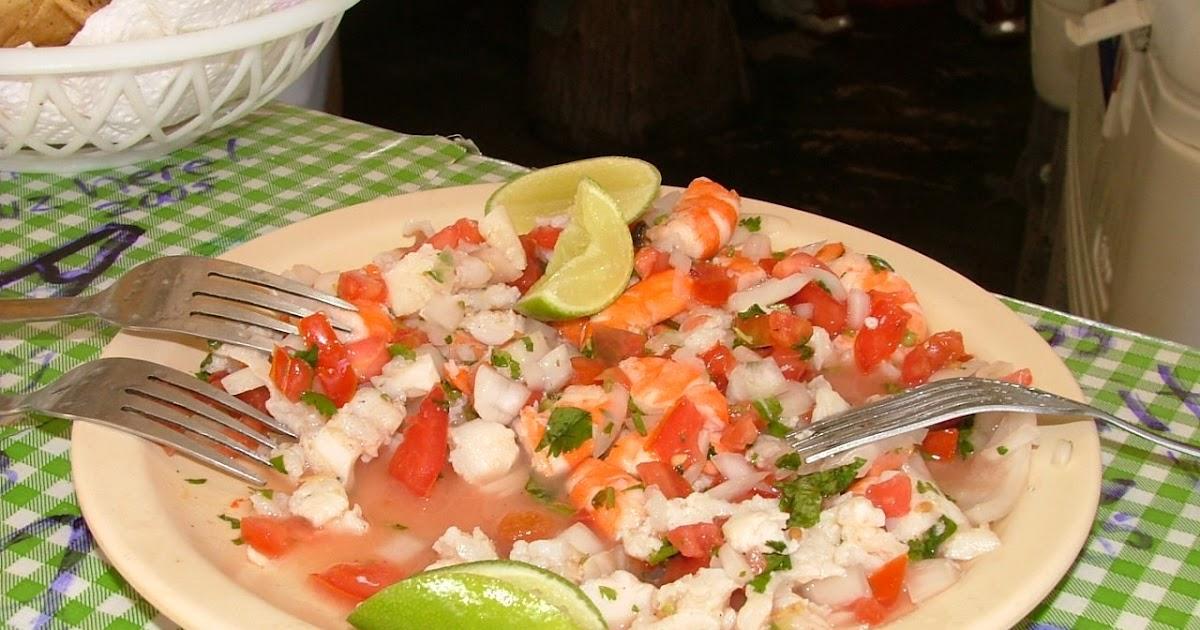 A cocinar con ceviche de pescado y camaron Cocinar con 5 ingredientes