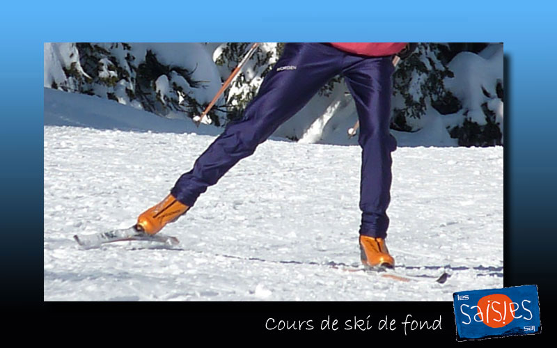 cours de ski de fond aux saisies les saisies. Black Bedroom Furniture Sets. Home Design Ideas