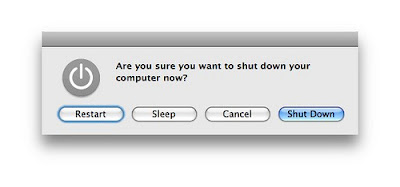 are you sure you want to shut down your computer now