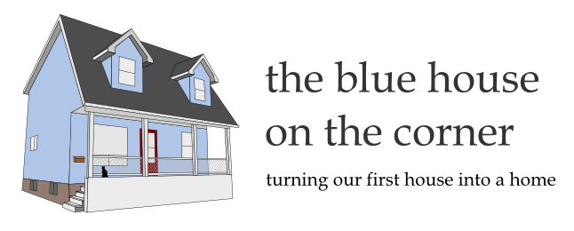 the blue house on the corner
