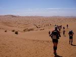 Maraton des Sables en  Sahara230 km de distancia en 6 etapas.