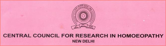 CENTRAL COUNCIL FOR RESEARCH IN HOMEOPATHY