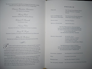 obama inauguration program