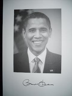 obama inauguration autograph