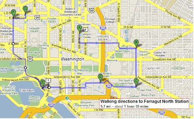 obama inauguration route map