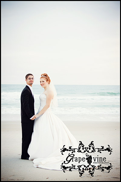 bridal portrait beach central florida wedding bride groom