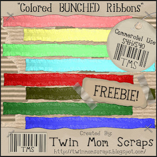 Bunched Ribbons - By: Twin Mom Scraps TMSBunchedRibbonPREVIEW