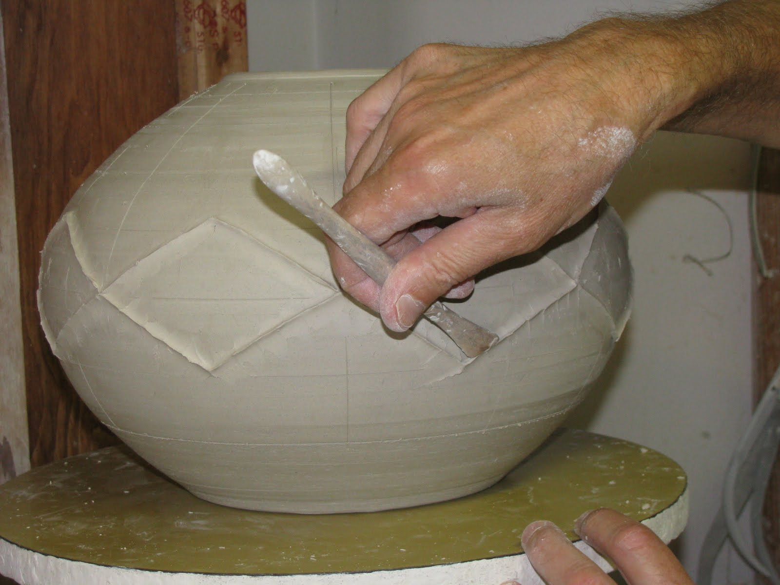 Jemerick art pottery blog get ready set go to ann arbor for Clay pot painting techniques
