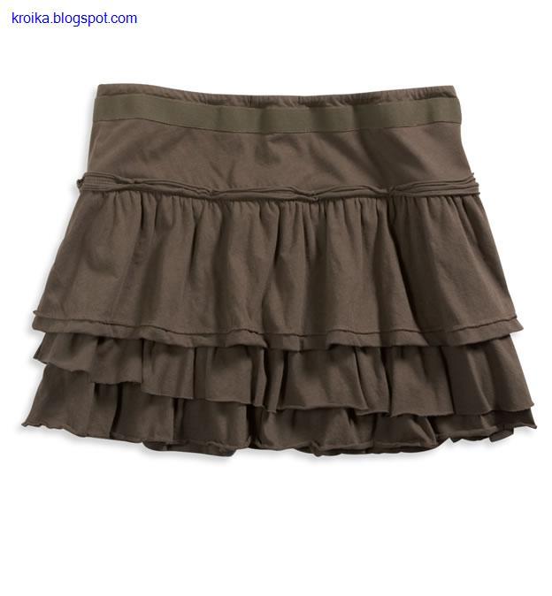 Летние юбки с выкройкой - Выкройка и