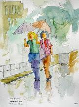 passeio na chuva