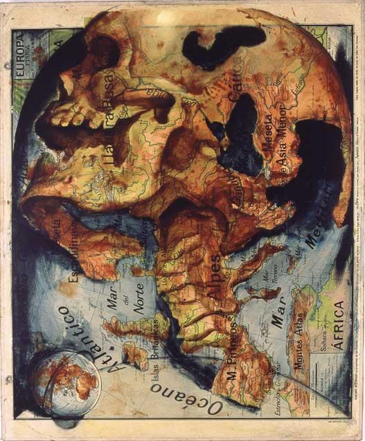 mapa del mundo entero. del mundo entero sobre sus