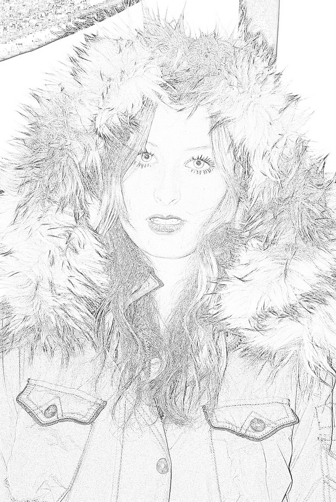 Photoshop Photo Line Art Effect : Album art my line drawing