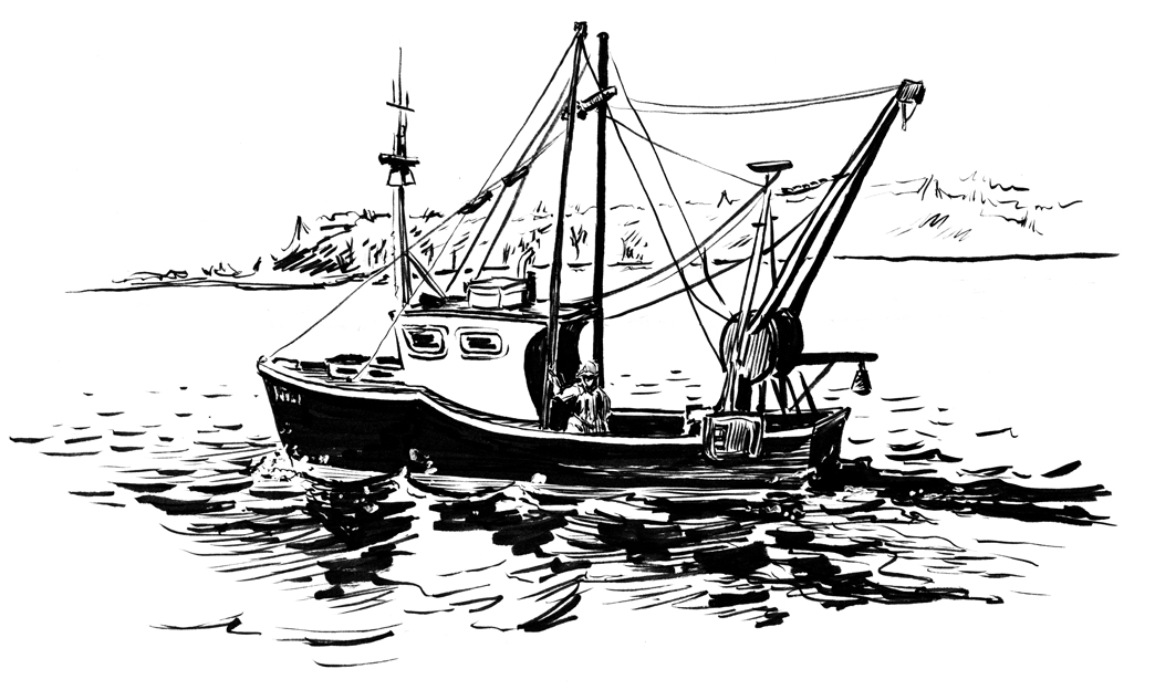 Fishing boat drawing for How to draw a fishing boat
