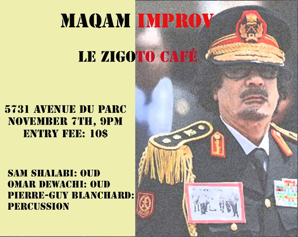 `le Zigoto`café is honored to be hosting an evening of Maqam Improv